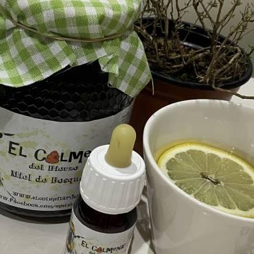 Remedio para la afonía con miel y propóleo